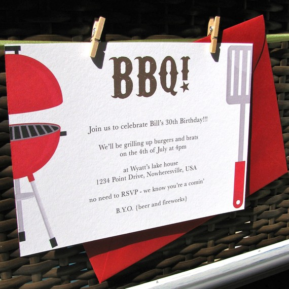 Printable BBQ Party Invitations, Graduation Party, Rehearsal Dinner