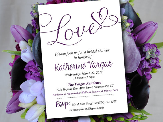 Bridal Shower Invitation Template - Wedding Shower Invitation - bridal shower invitation templates download