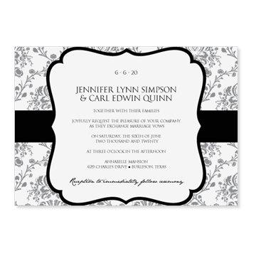INSTANT DOWNLOAD - Wedding Invitation Template - Victorian Damask