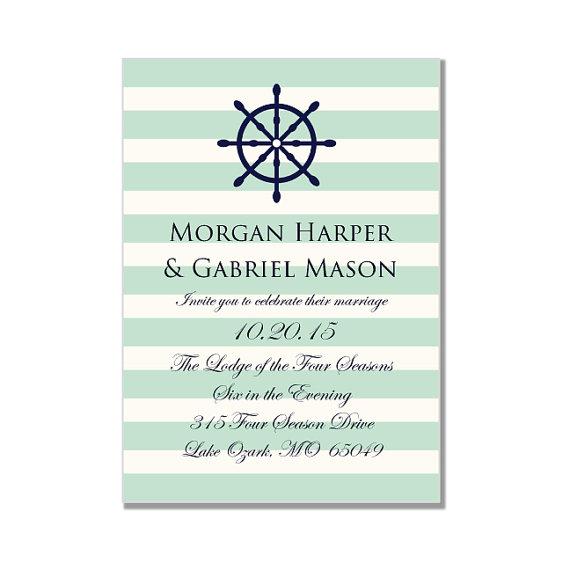 Nautical Wedding Invitation Template-\ - microsoft word template invitation