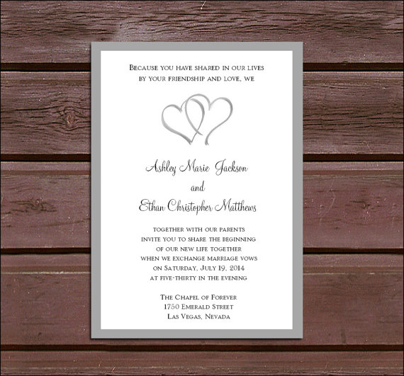 50 Hearts Wedding Invitations, RSVP\u0027s, Reception Invitations With