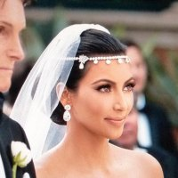 Kim Kardashian Inspired Headband Silver Plated Crystal