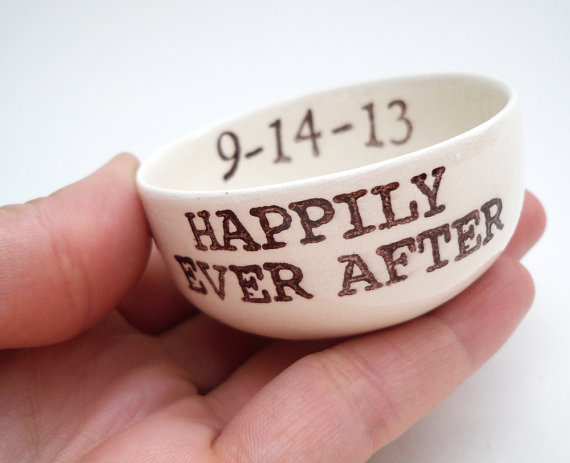 Custom Ring Dish Personalized Date Names Initials Wedding