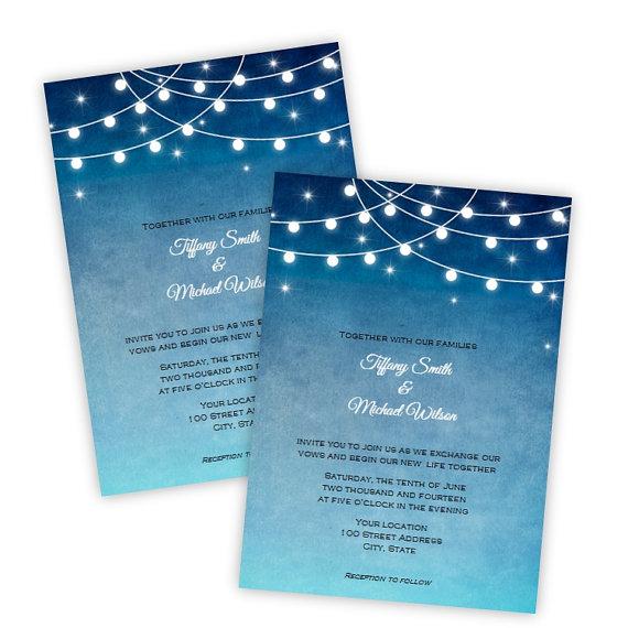 Wedding Invitation - Lights At Night - DIY Printable Template