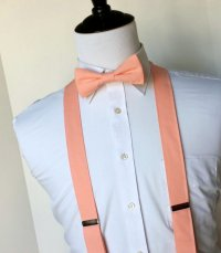 Peach Bowtie And Suspenders Set - Men, Teen, Youth ...