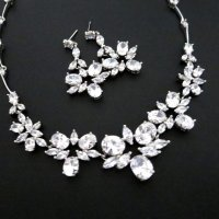 wedding jewelry set crystal rhinestone