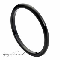 Tungsten Carbide Rings 2mm Polished Black Women Wedding ...