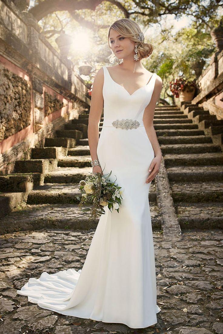 modern classic wedding dress by essense of australia classic wedding dress Modern Classic Wedding Dress By Essense Of Australia