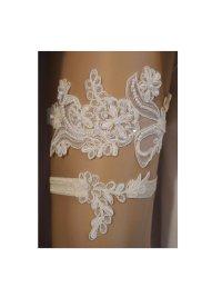Lace Wedding Garter Set, Wedding Garter, Unique Ivory ...