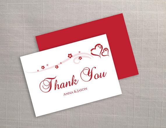 DIY Printable Wedding Thank You Card Template #2373282 - Weddbook - microsoft word thank you card template