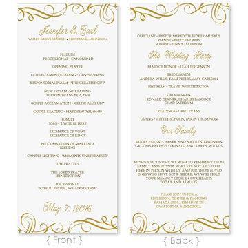 Wedding Program Template - DOWNLOAD INSTANTLY - Edit Yourself