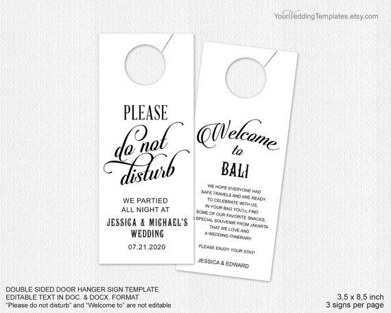 Decor - Wedding Door Hanger Template #2380115 - Weddbook