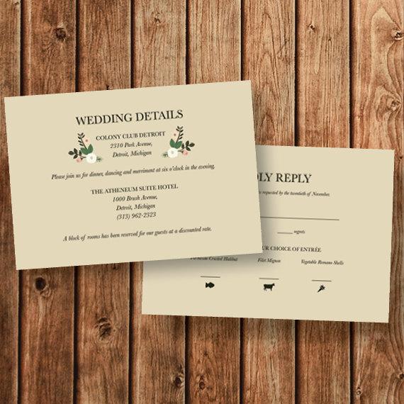 Invitation - Wedding Invitation Add On \u2013 Insert Card #2388992 - Weddbook