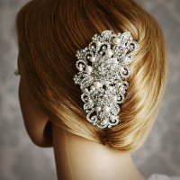 ANGELIQUE, Victorian Pearl And Rhinestone Bridal Hair Comb ...