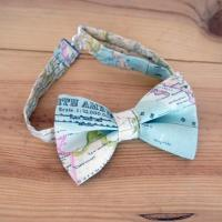 BOW TIE Men World MAP. Bow Tie Man Cotton Canvas World Map ...