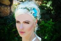 Blue Flower Crown, Blue Wedding, Something Blue, Blue Hair ...