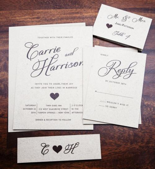 Medium Of Elegant Wedding Invitations