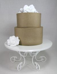 Cake Stand White Swirl Pedestal. Party Or Wedding Platter