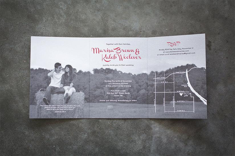 Tri-fold Wedding Invitation Suite- DESIGN FEE ONLY #2407936 - Weddbook