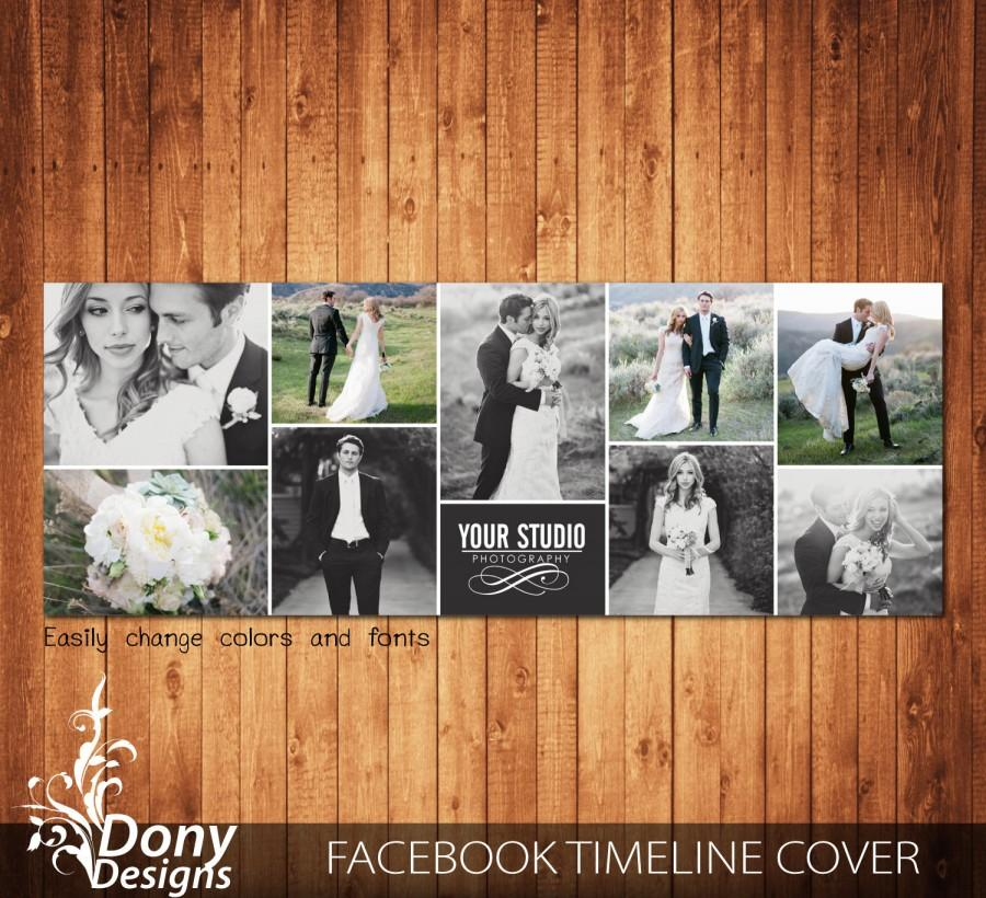 Wedding Facebook Timeline Cover Template Photo Collage - Photoshop - facebook collage template