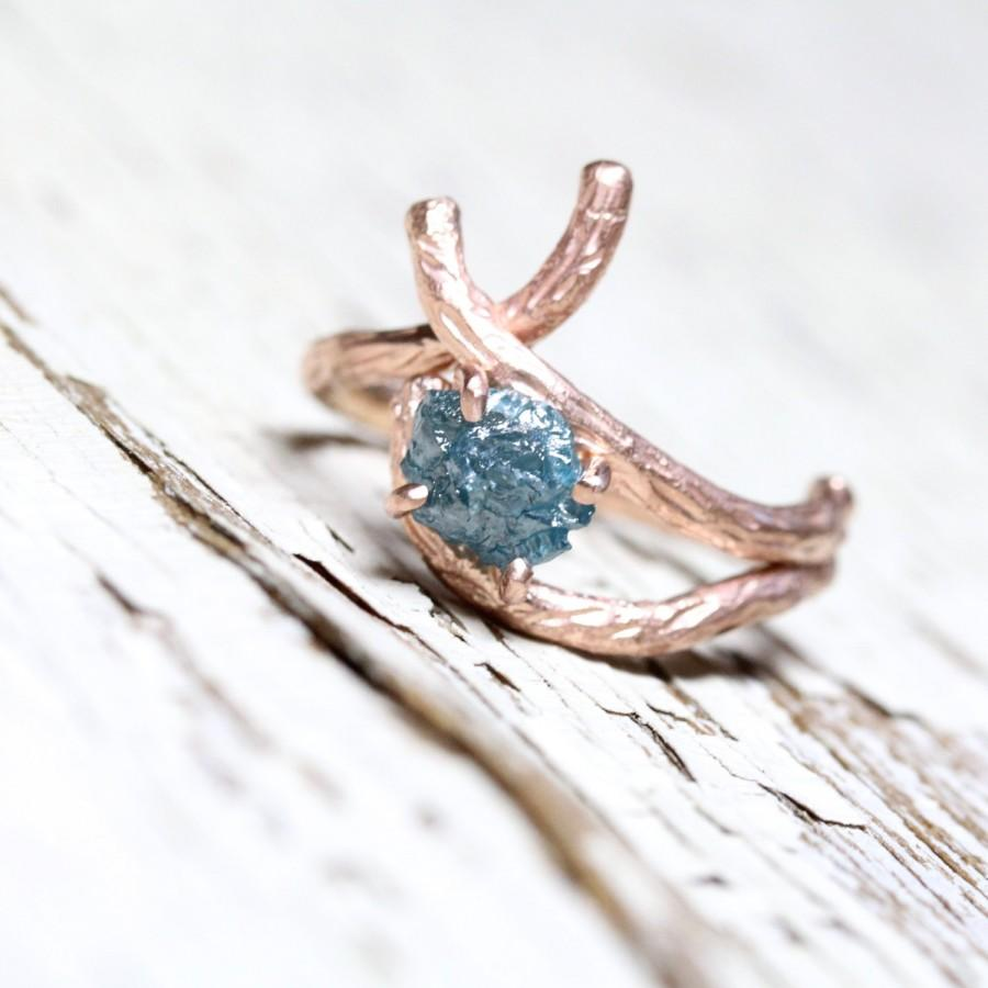 twig style engagement ring and wedding branch wedding ring zoom