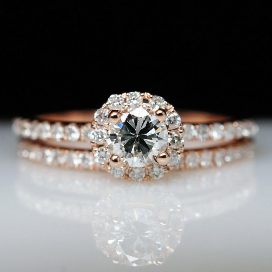 solitaire engagement and wedding ring sets - Solitaire Engagement Ring With Diamond Wedding Band