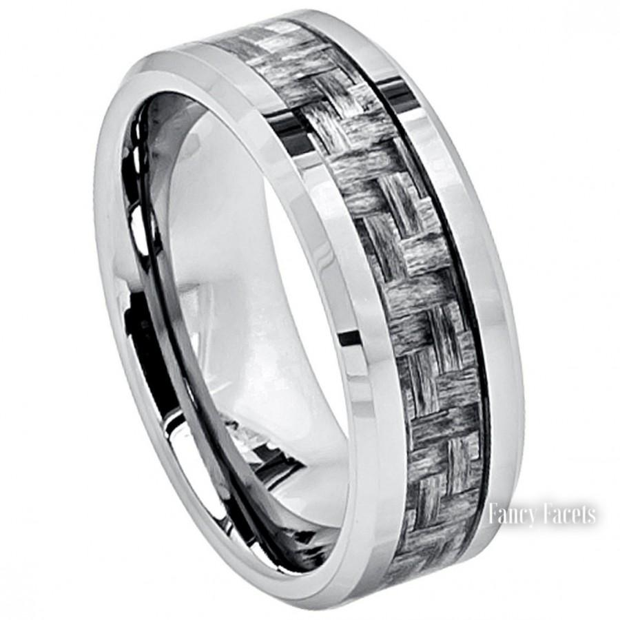 tungstenrings mens wedding rings tungsten 12MM Brushed Black Tayloright Tungsten Carbide Ring