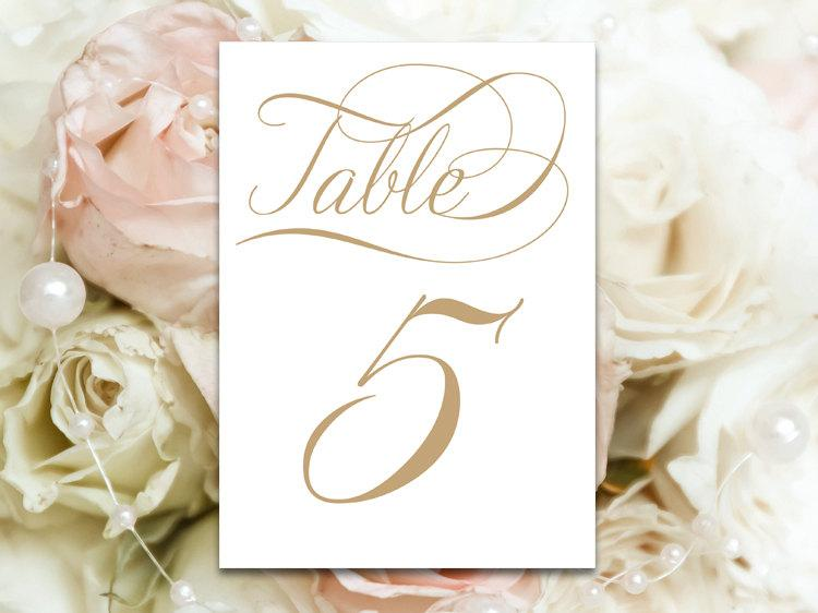 Ready To Print Set Of 20 Table Number Cards - \