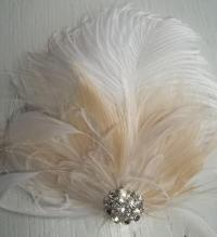 Ivory Wedding Hair Feathers | wedding bridal fascinator ...