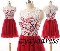 Lace Prom Dress,Lace Bridesmaid Dress ,Prom Dress,short ...