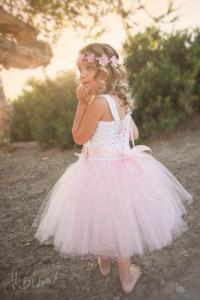 Flower Girl Tutu Dress, Beach Flower Girl Dress, Crochet ...