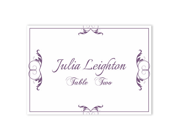 place cards template free - Minimfagency - wedding place cards template free