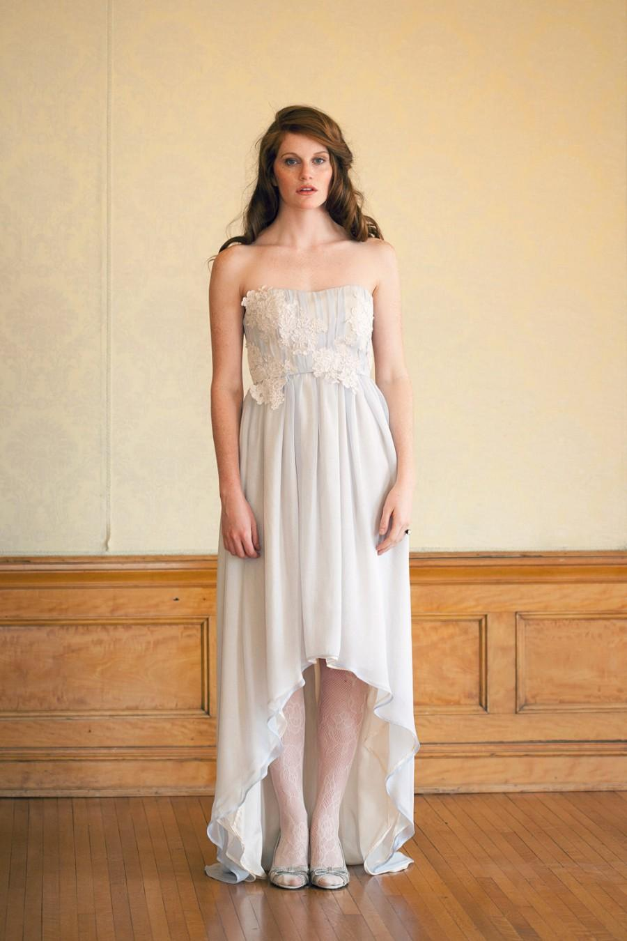 high low hem hi low wedding dress via Alta Moda Bridal