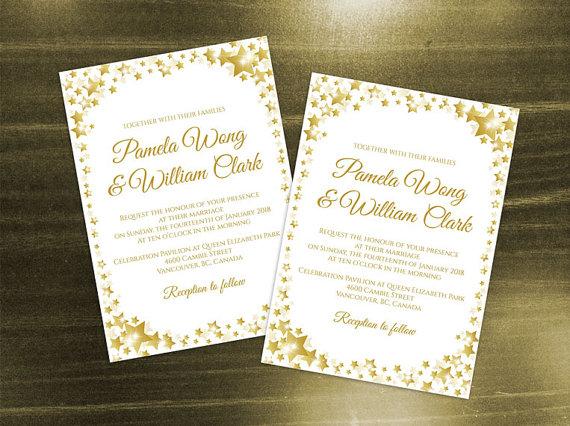 Diy Printable Wedding Invitation Card Template 2427537