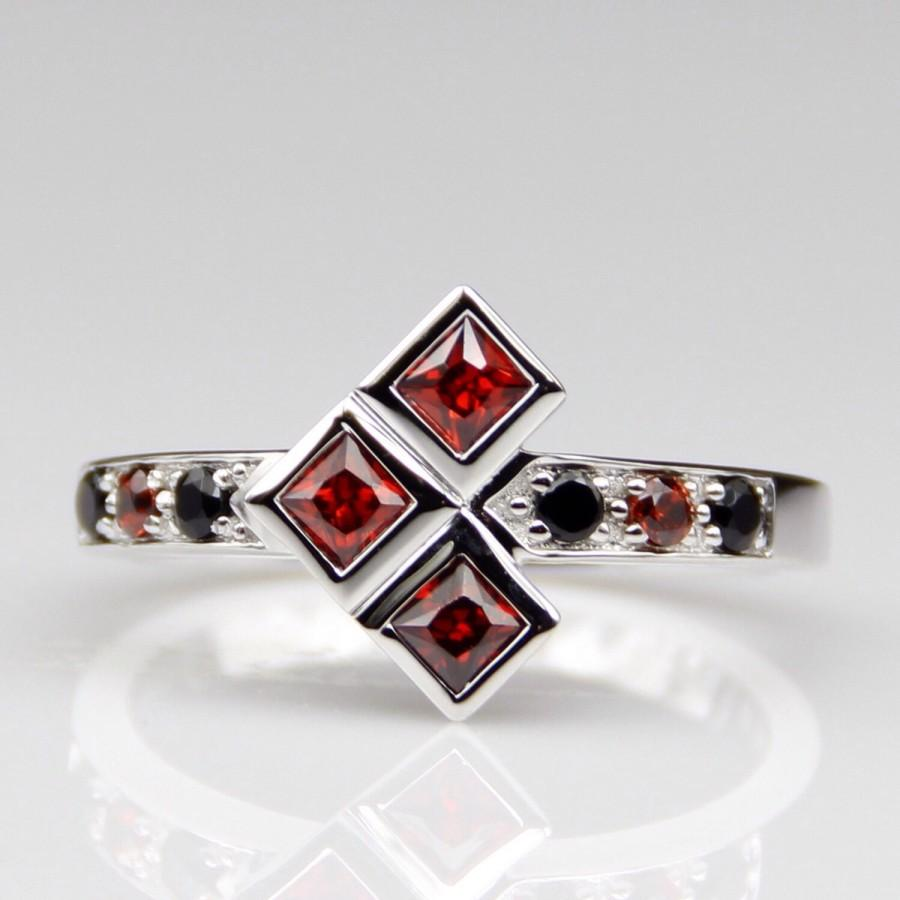 Hochzeit Comic Platinum Harley Quinn Natural Garnet And Onyx Engagement Wedding