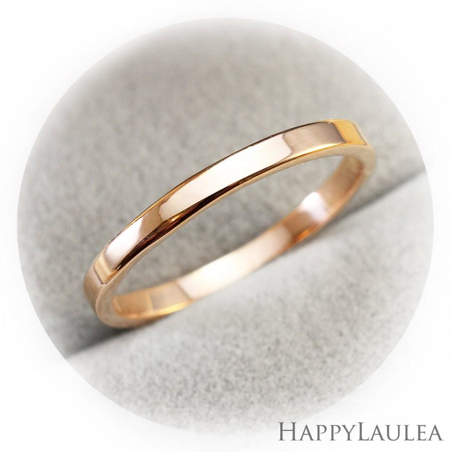 14k solid gold simple wedding band 2mm width flat style simple wedding bands 14K Solid Gold Simple Wedding Band 2mm width Flat style