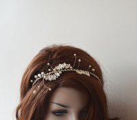 Wedding Hair Wreaths & Tiaras, Rhinestone And Pearl Tiara ...