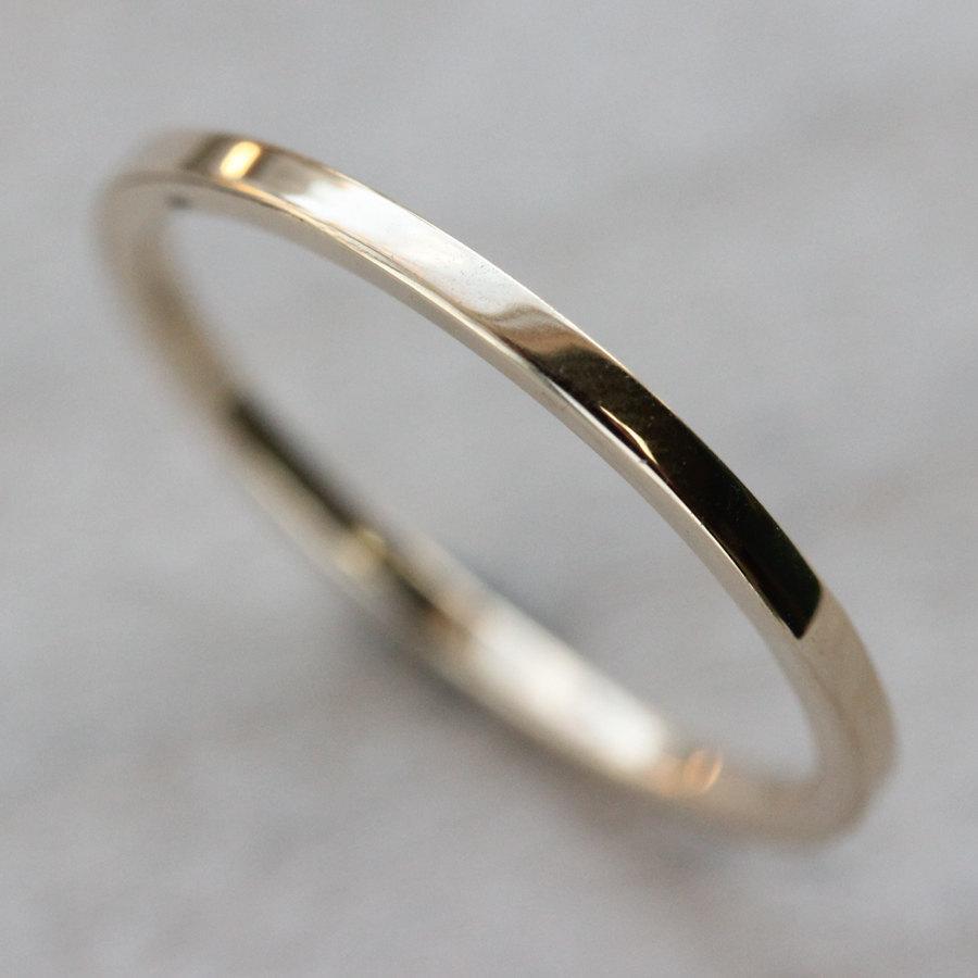 thin thin wedding bands image