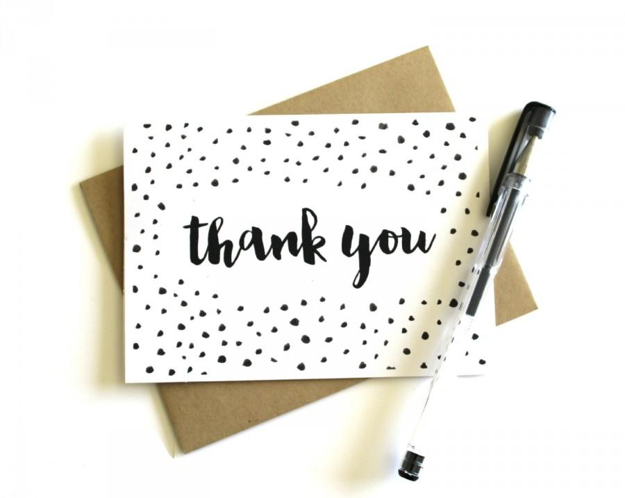 Confetti Thank You Cards (Set Of 5) - Thank You Cards, Wedding Thank