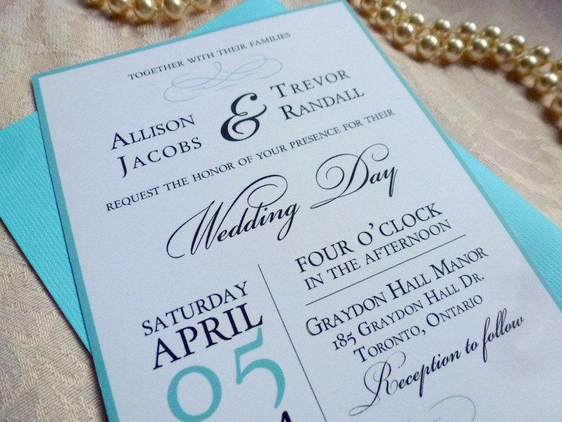 Printable Wedding Invitation And RSVP Card, The Elegance Suite, Aqua - free printable wedding rsvp cards