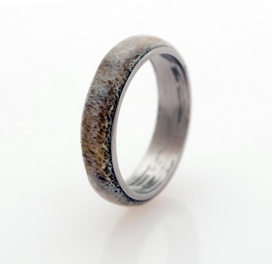 mens wood deer antler wedding ring antler wedding ring Mens Wood Deer Antler Wedding Ring