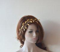 Wedding Hair Wreaths & Tiaras, Gold Leaf Crown, Wedding ...