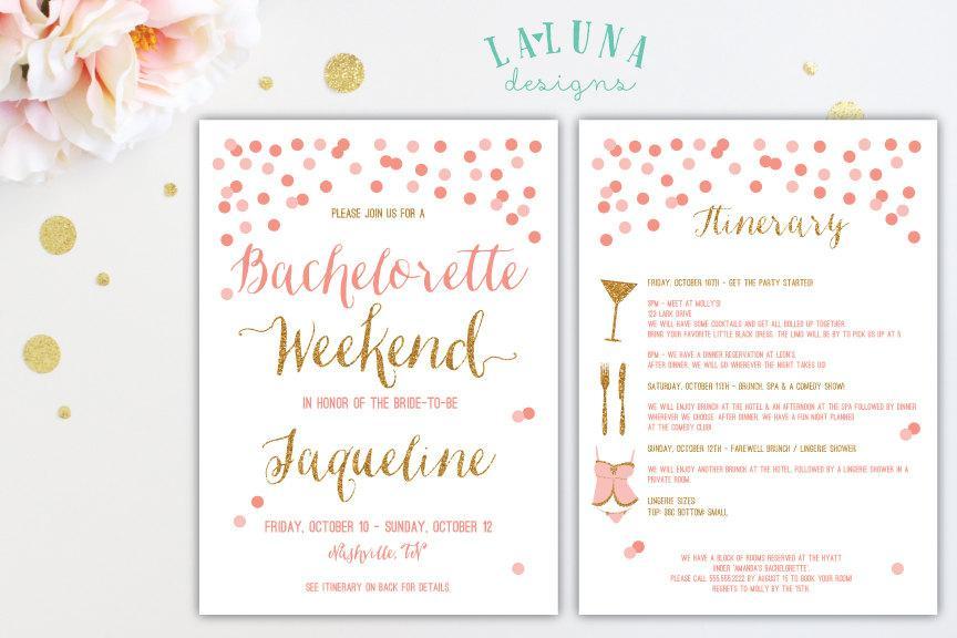 Bachelorette Invitation Template Frenchkittennet Bachelorette