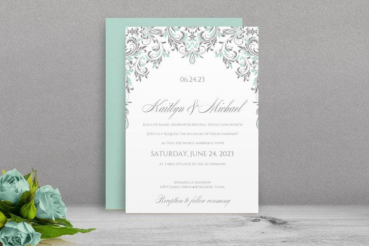 Printable Wedding Invitation Template - DOWNLOAD Instantly - free printable wedding invitation templates for word