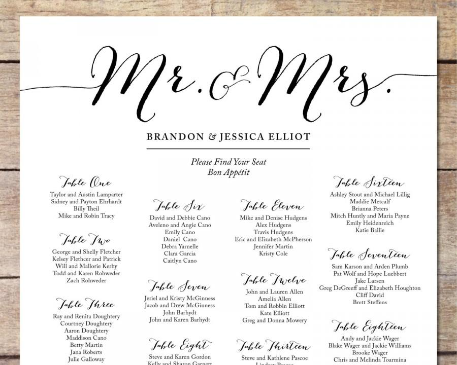 printable wedding seating chart - Funfpandroid - free printable seating chart