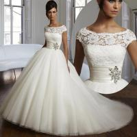 2016 Couture Ball Gown Elegant Wedding Dress Lace Tulle
