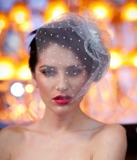 Bridal Dotted Hair Piece - Wedding Hair Accessories ...