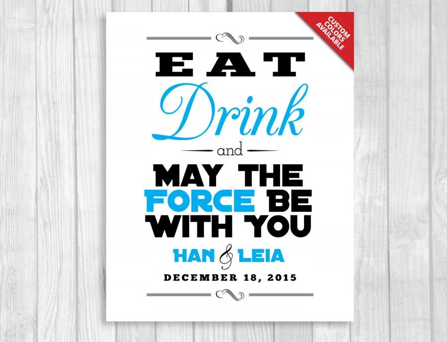 Eat Drink And May The Force Be With You 8x10 Printable Star Wars