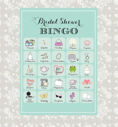 Medium Of Bridal Shower Bingo