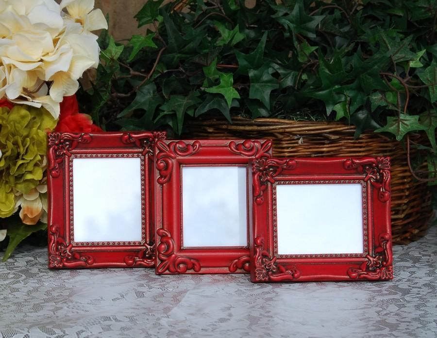 Ornate Wedding Picture Frames Set Of 3 Vintage Country Cottage Chic